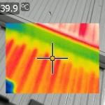Estudio termográfico. Cubierta nave industrial